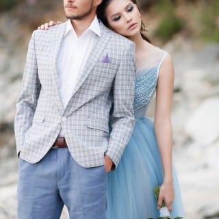 шикарная морская свадьба жених и невеста