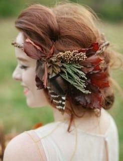 образ невесты осень бохо