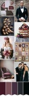 палитра для свадьбы осень фиолетовый черный