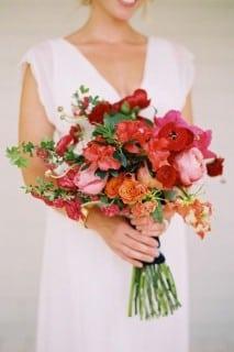 букет невесты осень красный