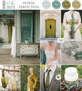 палитра для свадьбы осень зеленый