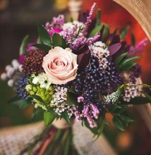 букет невесты осень с ягодами