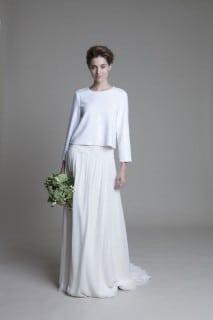 необычное свадебное платье осень
