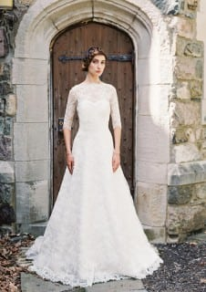свадебное платье осень