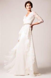 свадебное платье осень кружево