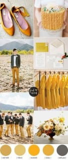палитра для свадьбы осень желтый