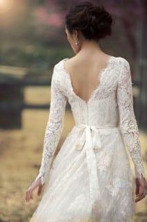 свадебное платье осень с длинным рукавом