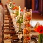 декор свадьбы осенью тыквы