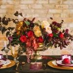 декор свадьбы осенью красный