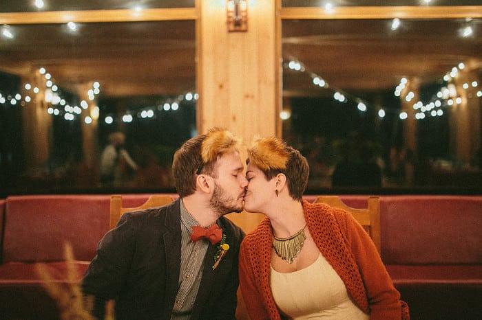 оригинальная свадьба осенью