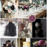 палитра для свадьбы зимой фиолетовый