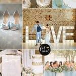 палитра свадьбы зимой голубой золото