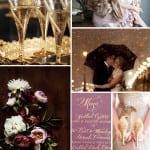 палитра свадьбы зимой фиолетовый золото