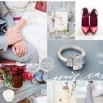 палитра для свадьбы зимой бордовый серый