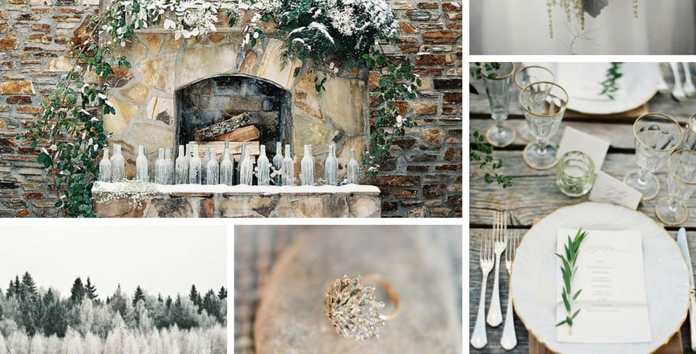 цвет зимней свадьбы
