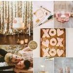 палитра для свадьбы зимой розовый золото