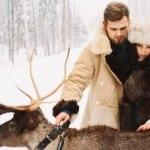 зимняя фотосессия для двоих на природе