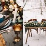 декор зимней свадьбы рустик
