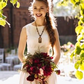 свадьба в цвете марсала невеста